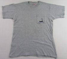 Vintage CAPE COD Massachusetts Sailboat BVD Pocket T Shirt Gray Size L