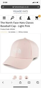 The North Face Hats Classic Baseball Cap - Light Pink Unisex Casual Sun One Size