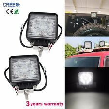 2pcs 27W 5inch LED Work Light Driving Off-road SUV Car Boat Truck Fog Spot Lamp