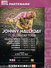 Publicité advertising 2005 Concert Johnny hallyday Flashback Tour