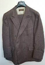 Kilgour French Stanbury Vintage Striped Bespoke Double Breasted Suit Fit 42