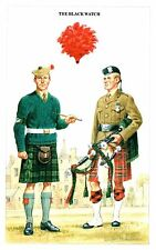 Postcard Military Uniforms Postcard Black Watch The British Army Series 7