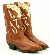 Acme Women's Vintage Western Cowboy Boots Inlay US Made Boho Festival 5.5 6