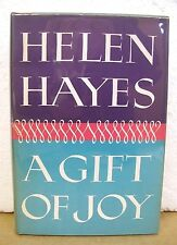 A Gift of Joy by Helen Hayes with Lewis Funke 1965 HB/DJ *Signed*