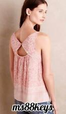 NWT Anthropologie MAZIE TANK Top Cami Halter Cut Out Blouse by Maeve SZ MEDIUM