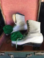 Vintage Betty Lytle Roller Skates W/ Pom Poms Size 6
