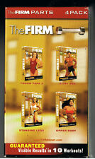 THE FIRM[4-VHS SET]Abs Upper Body Legs[Abs VIDEO OPENED]3-SEALED TAPES!BRAND NEW