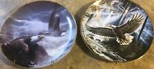 Lot Of 2 Franklin Mint Plates Promise of Freedom and Power And Majesty Eagle's