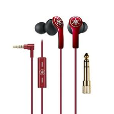 Yamaha EPHM200 In Ear Headphones with In-Line Remote/ Microphone & Case - Red