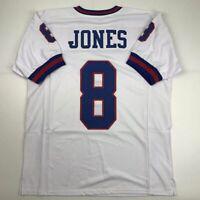 New DANIEL JONES New York Color Rush Custom Stitched Football Jersey Men's XL