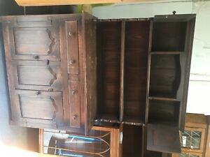 Vintage Old Charm Solid Oak Welsh Dresser