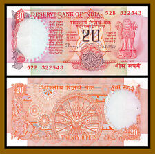India 20 Rupees, ND 1992-1996 P-82 Sig# 87 Unc with Pinholes