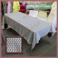 Tablecloth Rectangle Floral Lace 58 X 108 Ivory