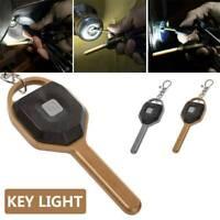 Portable Mini COB LED Camping Flashlight Key Ring Keychain Torch Light Lamp