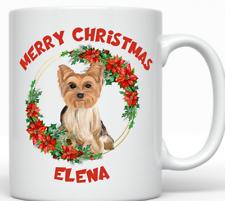Merry Christmas Yorkshire Terrier Mug, Yorkie Gift, Yorkshire Terrier Owner Gift