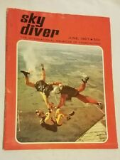 Vintage June 1967 Sky Diver Magazine Collectable