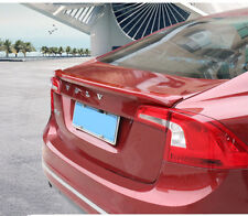 For Volvo S60 S60L 2012-2017 ABS Plastic Unpainted Rear Trunk Spoiler Lip Wing