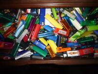 Konvolut  Einweg Feuerzeuge ca1750 Stück mit Reklame & ohne mit Gas & ohne