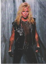 """MOTLEY CRUE Vince in chains and leather magazine PHOTO / Pin Up /Poster 11x8"""""""