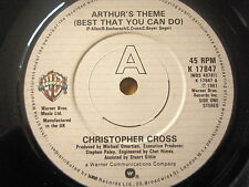 "CHRISTOPHER CROSS - ARTHUR'S THEME (BEST THAT YOU CAN DO)  7"" VINYL"