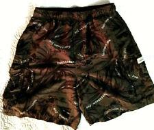 Caribbean Joe Men's Medium Brown Lined Swim Trunks Shorts