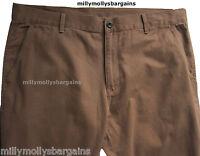 New Mens Marks & Spencer Brown Slim Trousers Waist 40 38 34 Leg 31 29