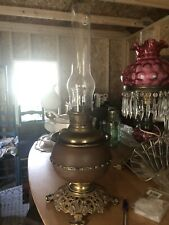 Ornate Vintage Antique 1880's B&H Bradley & Hubbard GWTW Parlor Banquet Oil Lamp