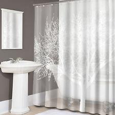 "Tree Print EVA PEVA Shower Curtain 70""x72"" Pearl - Splash Home Collection"