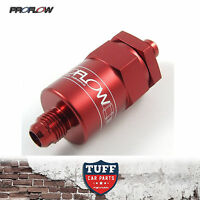 Proflow Competition Billet Reusable Fuel Filter 30 Micron Red -8AN -8 AN New