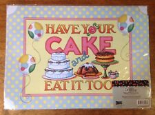 "Mary Engelbreit Placements Have Your Cake, Package Of 6, 16"" x 11.5"""