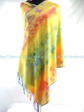 US SELLER- rainbow butterfly pashmina scarf Wedding Shawls