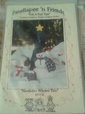 Panellapee 'n Friends Snowman Tree  Bunny Northern Winter Trio NT302 1994 New