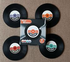 Pack of Four Vinyl Coasters - Record Design Brand New Boxed