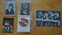 The Beatles Memorabilia / 1964 Topps Color Cards / Ringo Starr / Magnets / Pin