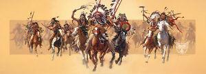 """Beyond Negotiations"" Bev Doolittle Western Indian Masterwork Giclee Canvas"