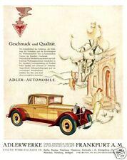 Farb-Plakat:  ADLER  Automobile, Oldtimer  (Geschenk)