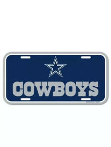 DALLAS COWBOYS ~ Official NFL Plastic Color License Plate ~ New!