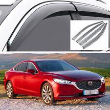 Car Window Visor Vent Deflector Sun/Rain Guards Set for Mazda 6 Sedan 2013-2020