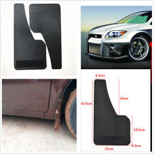 2 Pcs Universal Car Truck Plastic Mudguard Front Rear Wheel Carbon Filber Look