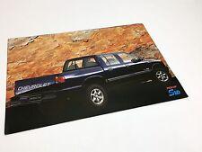 1997 Chevrolet S10 Crew Cab Pickup Information Card Brochure - GM Brazil