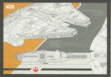 Star Wars Journey To The Last Jedi Blueprints Chase Card #5 The Millennium Fa