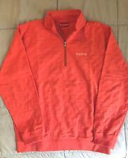 Supreme Herringbone Check Half Zip Pullover Sweater Peach SS15 2015 Sz L