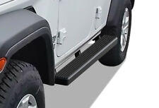 "Satin Black 4"" iBoard Side Step Nerf Bar Fit 18-20 Jeep Wrangler JL 4Dr"