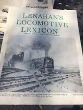 HO SCALE & Locomotive Guide LENAHAN'S LOCOMOTIVE LEXICON 1974 PB