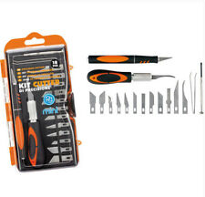 KIT 18 CUTTER DI PRECISIONE SET LAME MINI COLTELLI BISTURI INCISORE TAGLIERINO