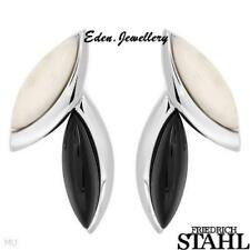 US$148 Made in GERMANY Friedrich Stahl Onyx Chalcedony 925 Sterling Silver RARE