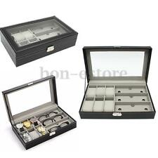 6 Watch 3 Sunglass Eyeglasses Storage Show Display Case Composite Organizer Box