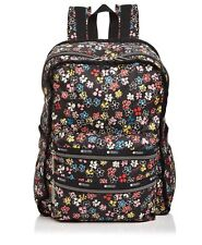 LeSportsac Functional Backpack Flower Burst Black With Multicolor Flowers