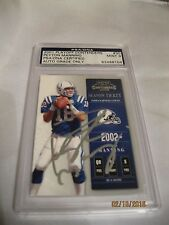 PEYTON MANNING CONTENDERS CARD PSA/DNA AUTOGRAPH RARE!!! SAMPLE CARD