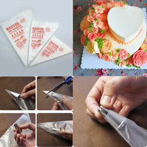 Piping Bags Plastic Disposable Cake Pastry Decor Icing Frosting Nozzles